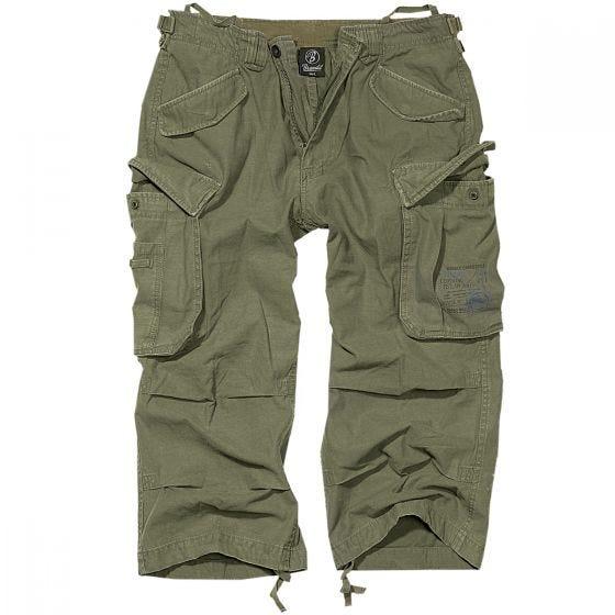 Brandit Industry Vintage 3/4 Shorts - Oliv