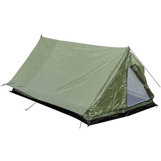 MFH Tält för 2 Personer i Minipack med Myggnät - OD Grön