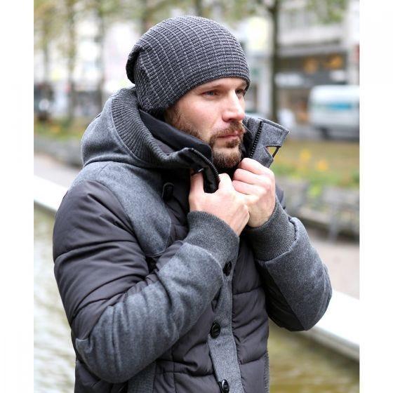 Brandit John Ajour Stickad Beanie - Antracit Blandning