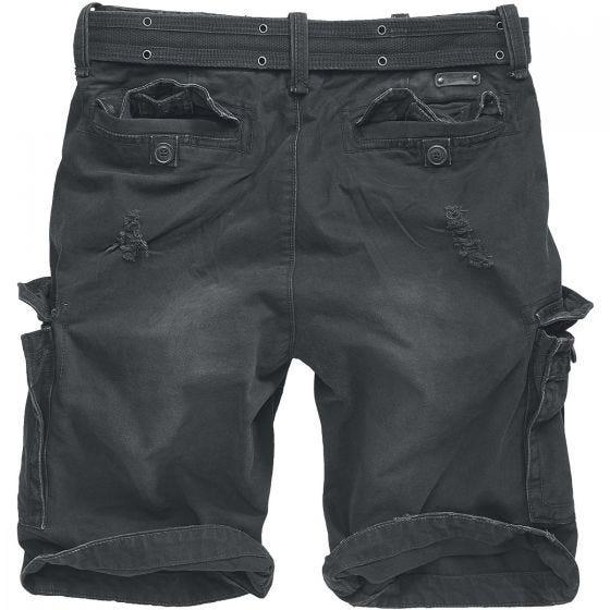 Brandit Shell Valley Heavy Vintage Shorts - Svart