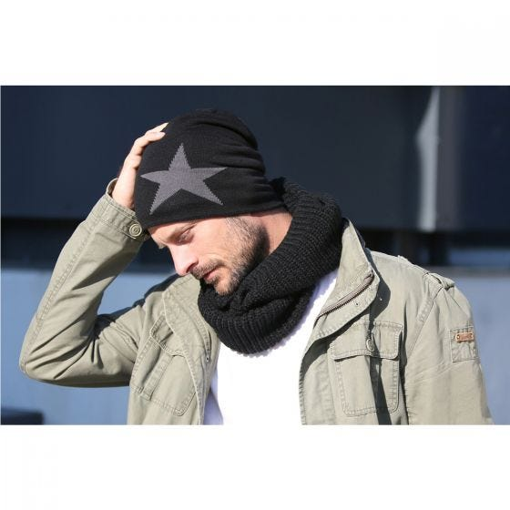 Brandit Star Beanie-keps - Antracit