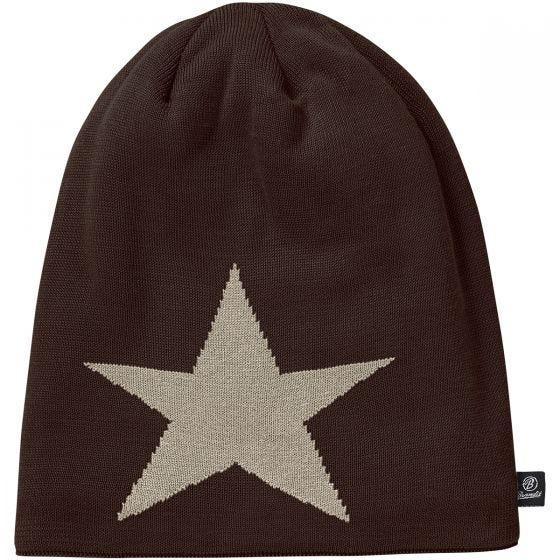 Brandit Star Beanie-keps - Chocolate
