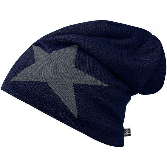 Brandit Star Beanie-keps - Navy