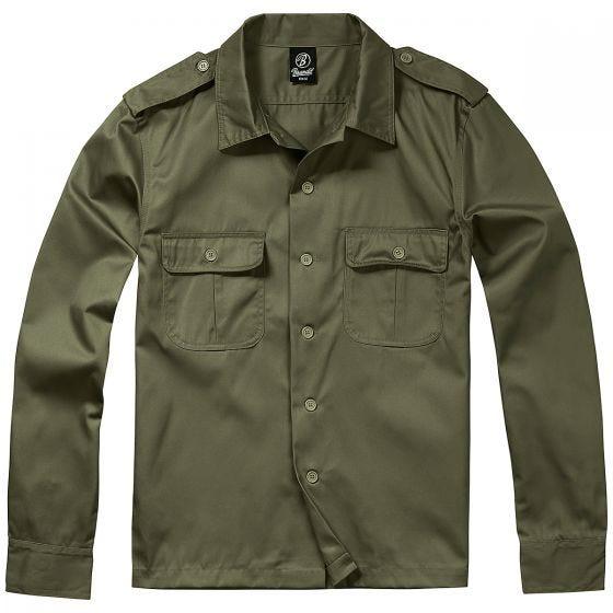 Brandit US Långärmad Skjorta - Oliv