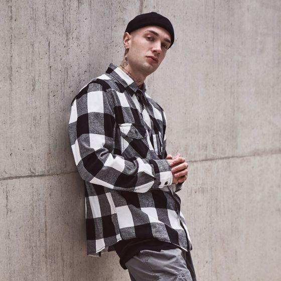 Brandit Rutig Skjorta - Vit/Svart