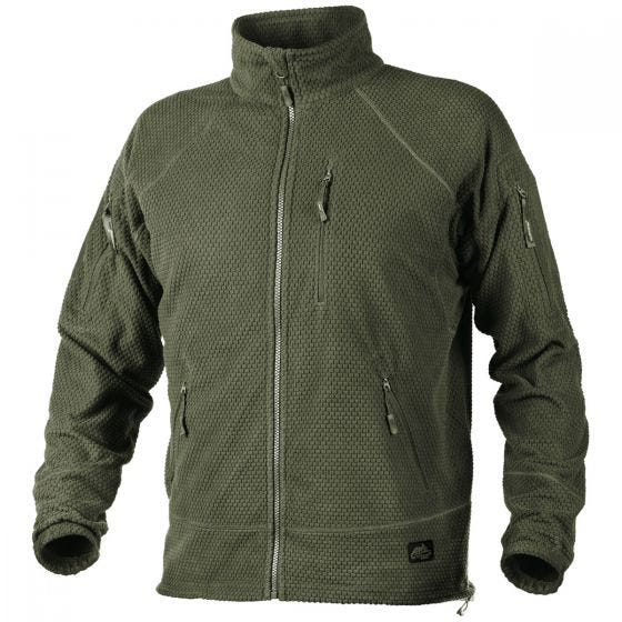 Helikon Alpha Tactical Jacka Grid Fleece - Olivgrön