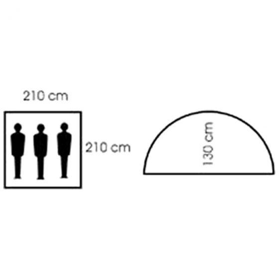 MFH Kupoltält för 3 Personer med Myggnät - OD Grön
