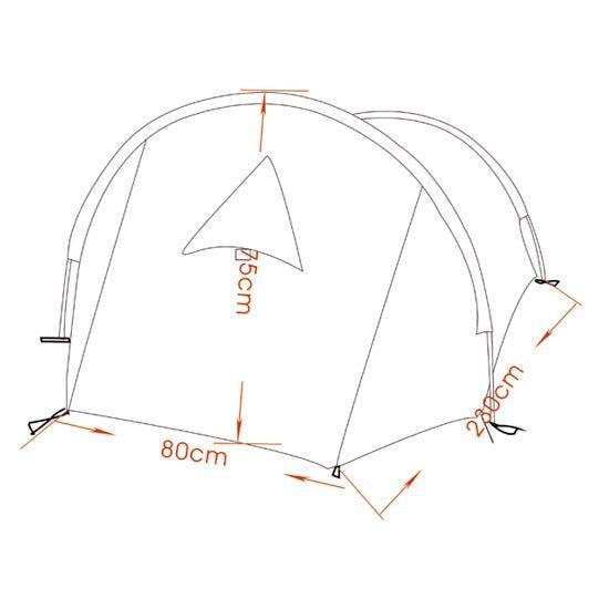 MFH Arber Tält med Aluminiumram - Flecktarn