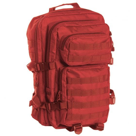 Mil-Tec MOLLE US Stor Attackpack - Röd