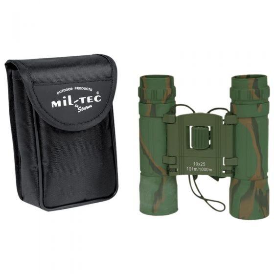 Mil-Tec Hopfällbar Kikare 10x25 - Kamouflage