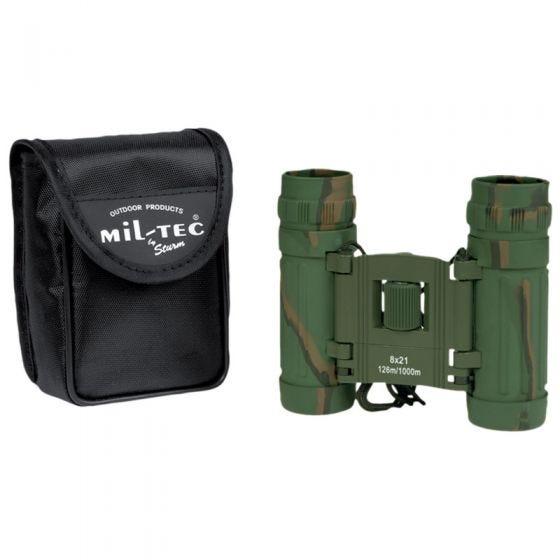 Mil-Tec Hopfällbar Kikare 8x21 - Kamouflage
