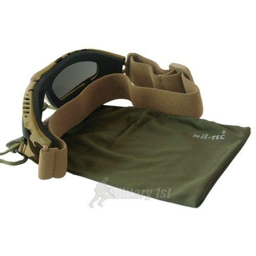 Mil-Tec Commando Goggles Air Pro Smoke Desert   DISC