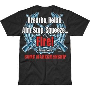 7.62 Design USMC Marksmanship Battlespace T-shirt Svart