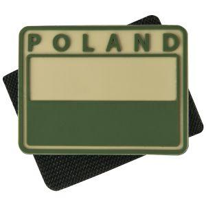Helikon Polish Subdued Flaggemblem med Polen-tryck Set med 2 Kaki