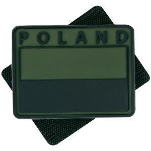 Helikon Polish Subdued Flaggemblem med Polen-tryck Set med 2 - Olivgrön