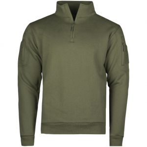 Mil-Tec Sweatshirt med Dragkedja Taktisk - Ranger Green