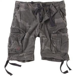 Surplus Airborne Vintage Shorts - Tvättad Black Camo