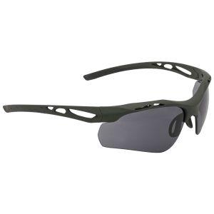 Swiss Eye Attac Sunglasses - Smoke + Orange + Clear Lens / Rubber Olive Frame