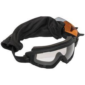 Swiss Eye G-Tac Goggle - Smoke + Orange + Clear Lens / Rubber Black Frame