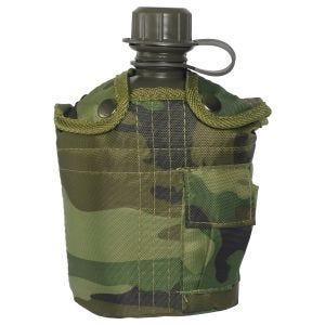 Mil-Tec Fältflaska med Skydd 1 Liter - Woodland