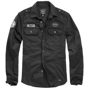 Brandit Luis Vintage Skjorta med Emblem - Svart