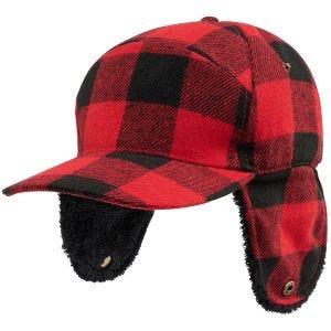 Brandit Lumberjack Vintermössa - Röd/Svartrutig