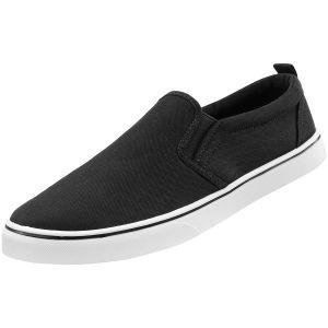 Brandit Southampton Slip-On Sneaker - Svart/Vit