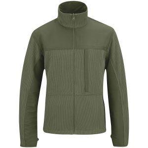 Propper Teknisk Sweater med hel Dragkedja Oliv