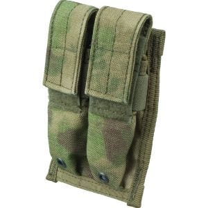 Flyye MOLLE Dubbel Magasinficka 9 mm - A-TACS FG