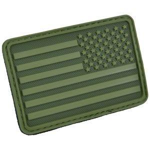 Hazard 4 USA Flag Right Arm Moralmärke - Olivgrön