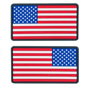 Helikon Large USA Flag PVC Märke (2-pack) - True Colours