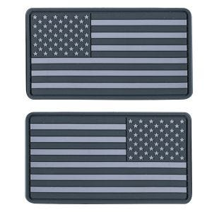 Helikon Large Subdued USA Flag Märke (2-pack) - Grå