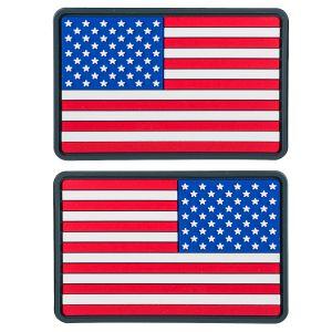 Helikon Small USA Flag PVC Märke (2-pack) - True Colours