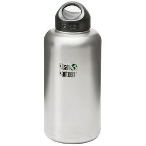 Klean Kanteen Wide Mouth Loop Cap Flaska 1893 ml - Borstat Rostfritt