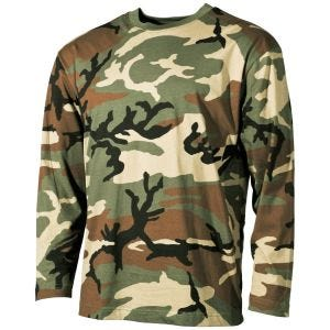 MFH Långärmad T-shirt - Woodland