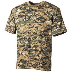 MFH T-shirt - Digital Woodland
