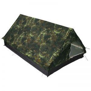 MFH Tält för 2 Personer i Minipack med Myggnät - Flecktarn
