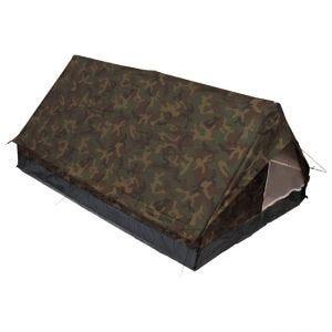 MFH Tält för 2 Personer i Minipack med Myggnät - Woodland