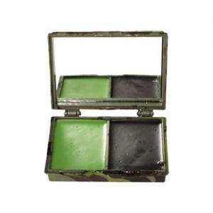 Mil-Tec Kamouflage Ansiktsfärg 2 Färger med Spegel - Woodland