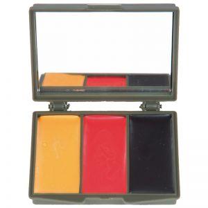 Mil-Tec BW Army Camo Ansiktsfärg 3 Färger med Spegel