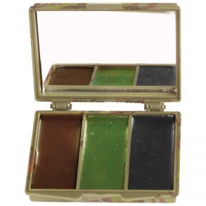 Mil-Tec Kamouflage Ansiktsfärg 3 Färger med Spegel - Woodland