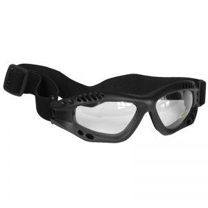 Mil-Tec Commando Goggles Air Pro Clear Black