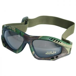 Mil-Tec Commando Goggles Air Pro Smoke Woodland    DISC