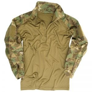 Mil-Tec Warrior Skjorta med Armbågsdynor - Arid Woodland