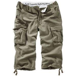 Surplus Trooper Legend 3/4 Shorts - Oliv Tvättad