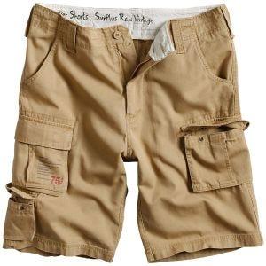 Surplus Trooper Shorts - Beige Tvättad