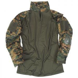 Mil-Tec Warrior Skjorta med Armbågsdynor - Digital Woodland
