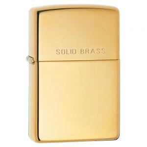 Zippo High Polish Brass Engraved Tändare - High Polish Brass